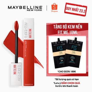 Son Kem Lì 16h Lâu Trôi Maybelline New York Super Stay Matte Ink City Edition Lipstick 5ml