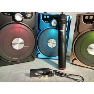 Loa Bluetooth karaoke xách tay gảm strees lúc căng thẳng nhé + 1 Mic không dây phòng karaoke tại gia RP90075