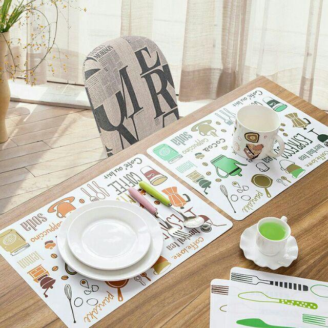 Tấm lót bàn ăn bằng nhựa bao đẹp