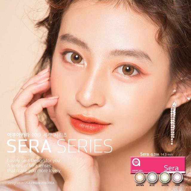 Kính áp tròng cao cấp Hàn Quốc Sera Series – Brown 14.3mm 6 tháng