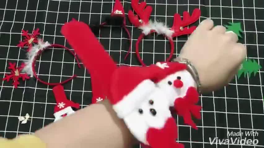 Vòng tay đồng hồ ( cột tóc ) Noel cực cute