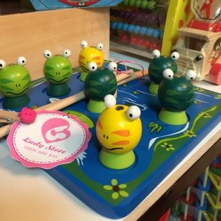 Trò chơi câu ếch 2 cần – Đồ chơi gỗ – hình thật