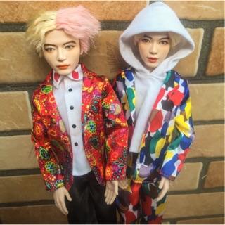 Doll mattel BTS Jimin Jungkook Taehyung Jin đã faceup