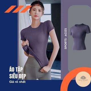 Áo phông tập gym yoga Surisport A12 siêu rẻ, co dãn, thoáng khí