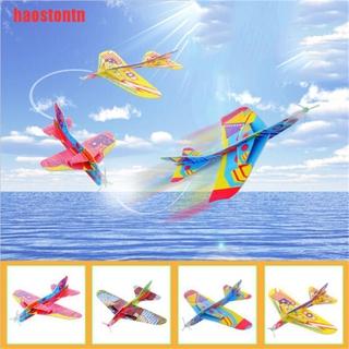 [haostontn]Flying Back Magic Swing Plane 360 Cyclotron Airplane Kids DIY Model G
