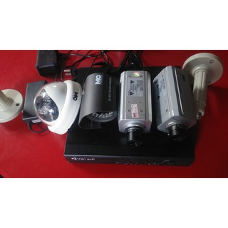 Bộ Camera giám sát gồm đầu ghi và 4 mắt đã qua sử dụng