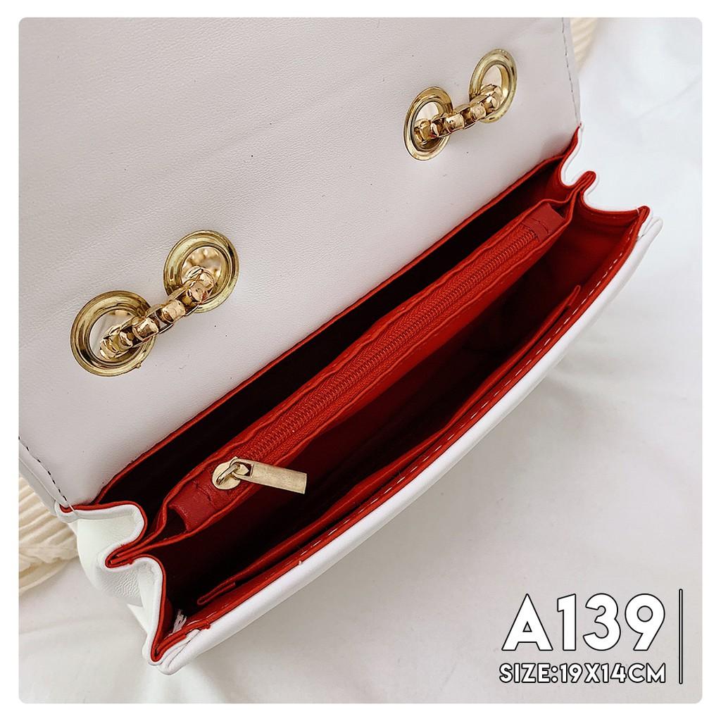 [ SIÊU HOT] Túi Đeo Chéo Nữ Dây Đeo Thiết Kế Đặc Biệt Cá Tính - A139