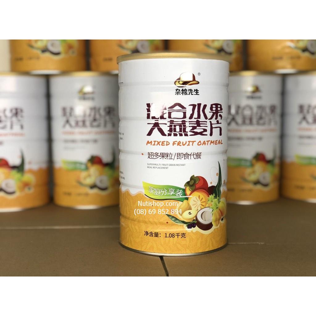 [Mã GROMS25 giảm 8% đơn 199K] Ngũ cốc ăn kiêng hoa quả hỗn hợp mixed fruit oat meal hộp to 1080g