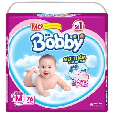 Tã dán Bobby SIZE M76 / L68 / XL62 / XXL56