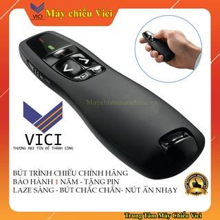 Bút Trình Chiếu Slide R400 PowerPoint Laser 2.4G. Bút Chỉ Máy Chiếu Màu Đen, Nút Ấn Nhạy, Độ Bền Cao