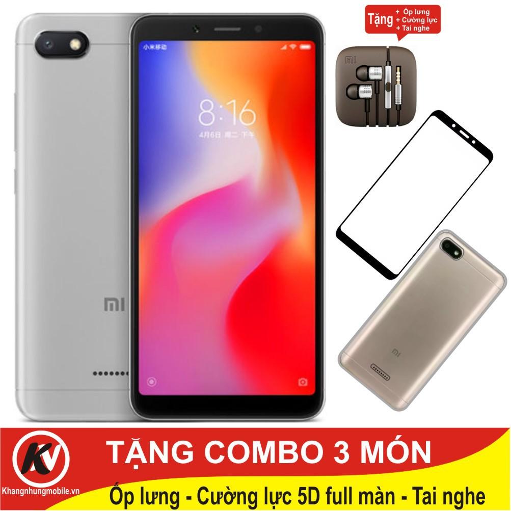 Combo Điện thoại Xiaomi Redmi 6A, Redmi6A 16GB Ram 2GB + Ốp lưng + Cường lực 5D full màn + Tai nghe - 3389390 , 1305813837 , 322_1305813837 , 2900000 , Combo-Dien-thoai-Xiaomi-Redmi-6A-Redmi6A-16GB-Ram-2GB-Op-lung-Cuong-luc-5D-full-man-Tai-nghe-322_1305813837 , shopee.vn , Combo Điện thoại Xiaomi Redmi 6A, Redmi6A 16GB Ram 2GB + Ốp lưng + Cường lực 5