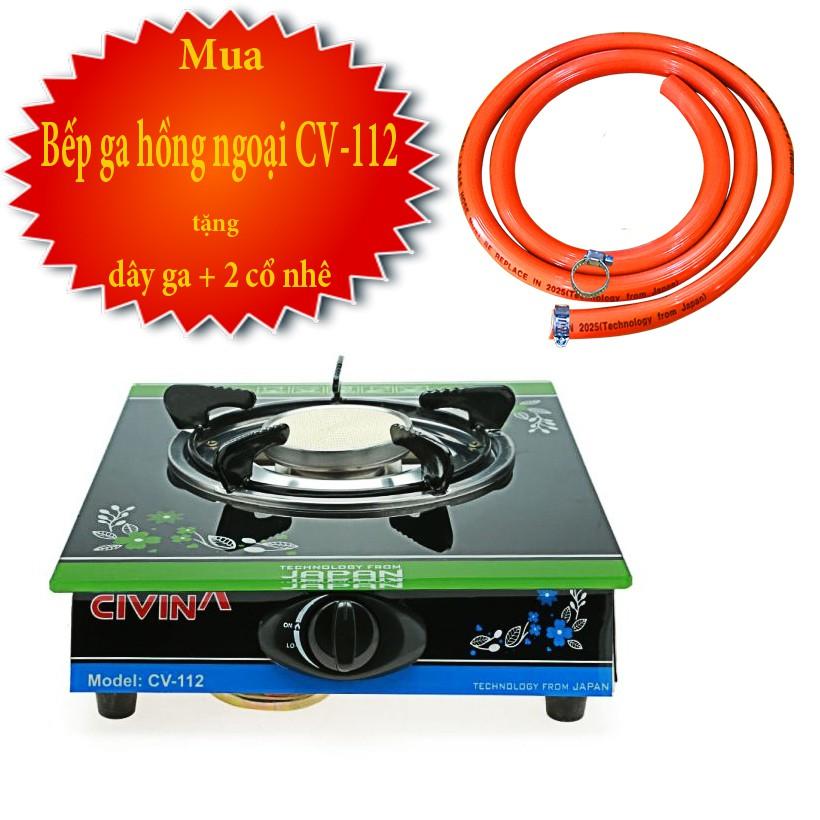 Bếp ga đơn hồng ngoại Civina CV-112 tặng kèm dây dẫn ga 3 lớp dài 1.2m và 2 cổ nhê inox 304 - 2963201 , 1233936705 , 322_1233936705 , 299000 , Bep-ga-don-hong-ngoai-Civina-CV-112-tang-kem-day-dan-ga-3-lop-dai-1.2m-va-2-co-nhe-inox-304-322_1233936705 , shopee.vn , Bếp ga đơn hồng ngoại Civina CV-112 tặng kèm dây dẫn ga 3 lớp dài 1.2m và 2 cổ n
