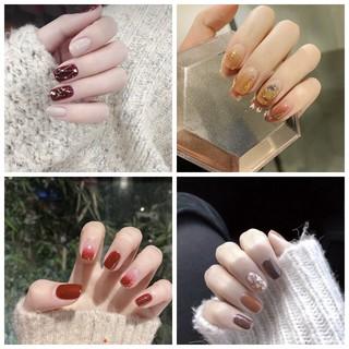 Miếng dán móng tay hàn quốc, miếng dán móng tay dễ thương, không thấm nước và bền YW597-616 thumbnail