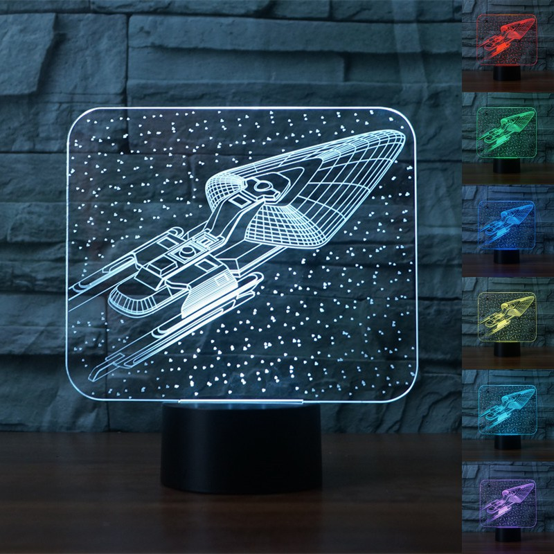 Đèn LED tạo hình 3D hành tinh 7 màu thay đổi kèm phụ kiện