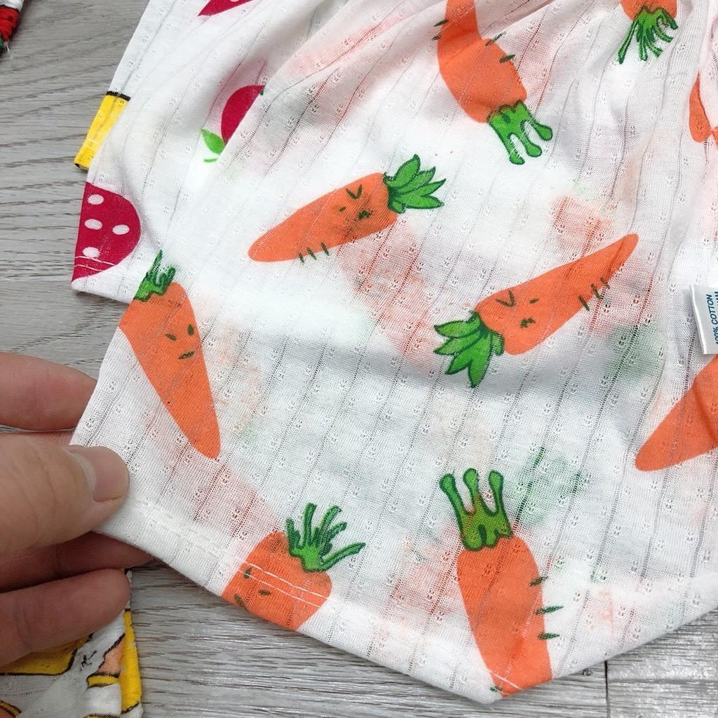 Quần đùi cho bé chất cotton giấy thông hơi thoáng mát họa tiết dễ thương