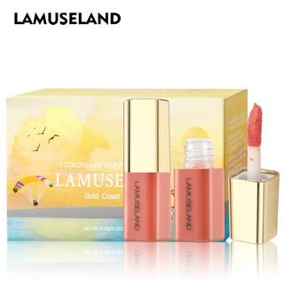 LAMUSELAND Set son môi dưỡng ẩm tiện lợi cho đi du lịch 12 LA0007