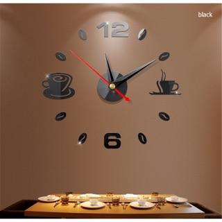 Đồng hồ dán tường mặt gương 3d chất liệu acrylic