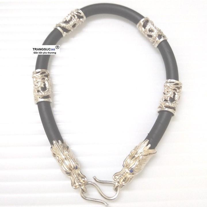 Lắc tay nam bạc ts365-la028, vòng tay nam bạc ts365-la028