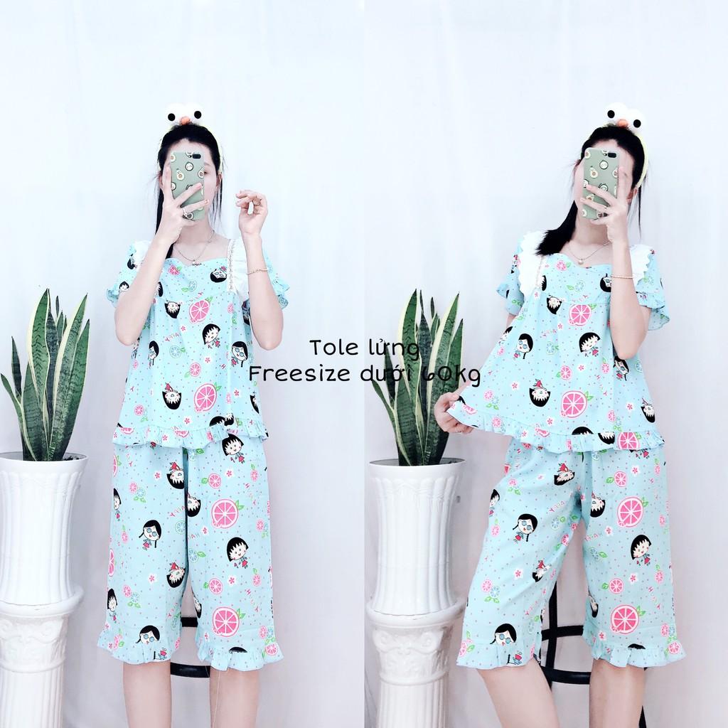 Đồ Bộ Pijama Mặc Nhà Nữ Ngắn Lụa Cực Xinh Mùa Hè