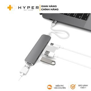 [Mã ELMALL300 giảm 7% đơn 500K] Cổng chuyển HyperDrive 4-in-1 HDMI 4K, USB-C Hub cho Macbook & Devices