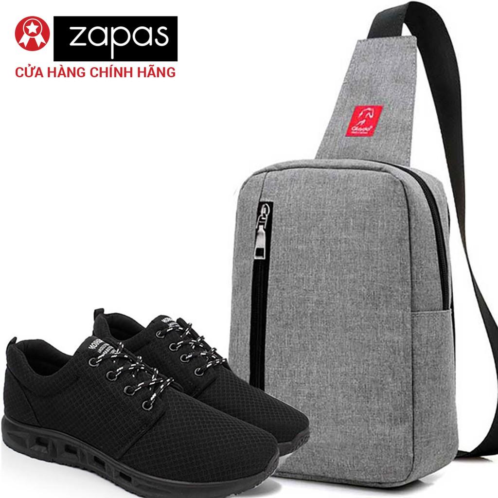 Combo Balo Classical Glado DCG026 (Màu Xám) + Giày Sneaker GS087 (Màu Đen)