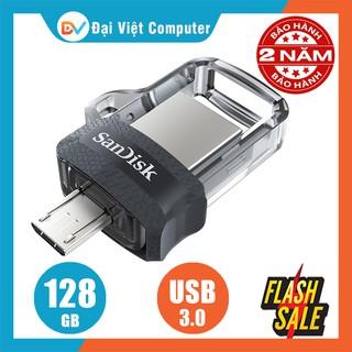 USB OTG sandisk 128GB 64GB 32GB Ultra Dual M3.0 150MB/s SDDD3 (trong suốt)