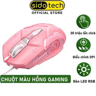 Chuột Màu Hồng Game Thủ Máy Tính SIDOTECH G5S Gaming Led Rgb 6 Nút Bấm DPI 3200 Tuổi Thọ Click Cao - Chính Hãng thumbnail