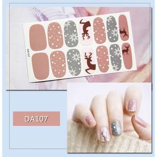 Bộ sticker dán móng tay trang trí 3D DA101-DA120 thumbnail