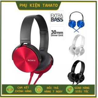 [tai nghe học online]Tai nghe chụp tai có mic, dây chống đứt, dùng cho máy tính và điện thoại chính hãng EXTRA BAS MDR-X