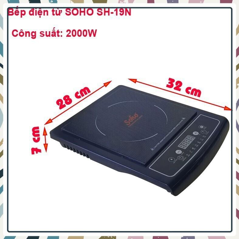 (Bán Chạy)Bếp điện từ mặt kính Ceramic SOHO SH-19N_công suất 2000W
