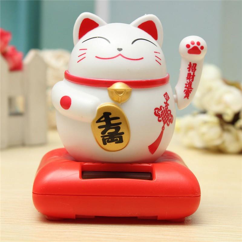 Mèo Neko May Mắn (Pin Nắng Lượng)