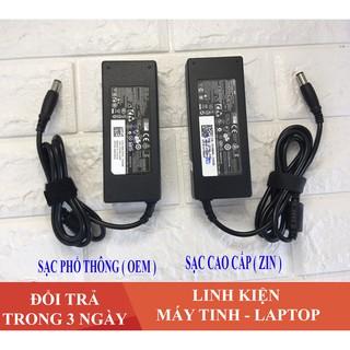 Sạc Laptop Dell 19.5V 4.62A (90w) Chân Kim To Chính Hãng E6420 E6520 3442 3443 3543 + Tặng Dây Nguồn
