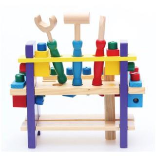 Bộ đồ chơi gỗ thông minh Montessori - Bộ kệ lắp ráp công cụ sửa chữa 39 chi tiết cho bé Kagonk