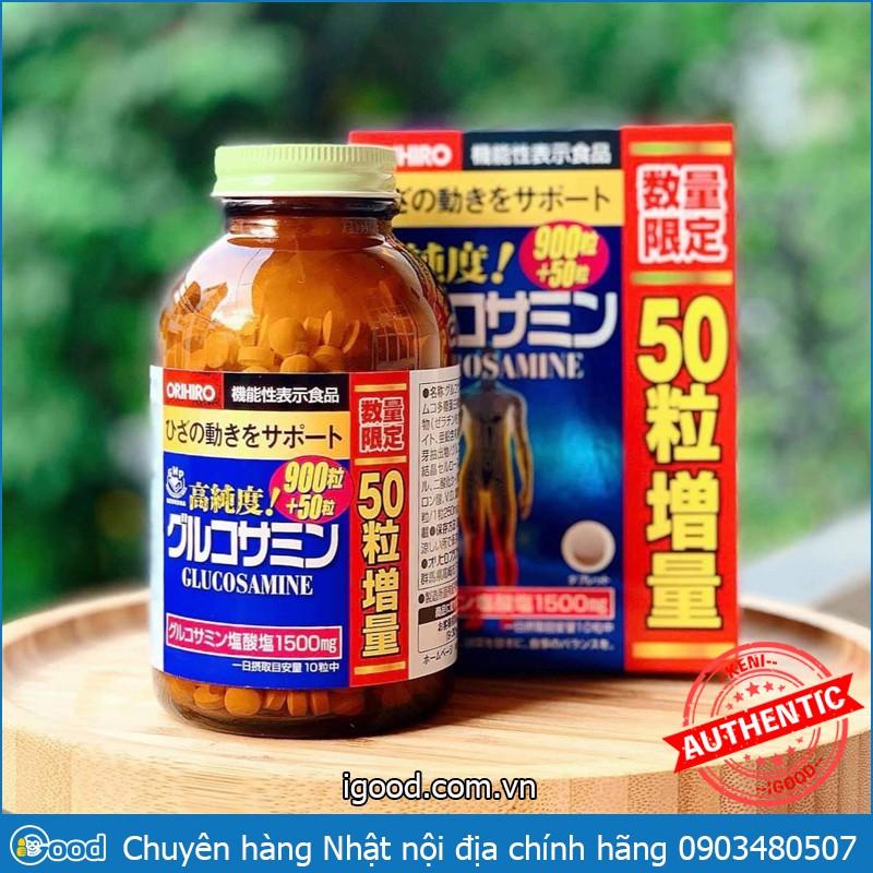 Viên bổ xương khớp Glucosamine Orihiro 1500mg Nhật Bản