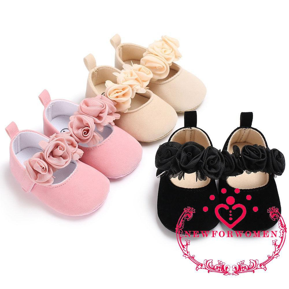 Baby Newborn Toddler Girl Crib Shoes Pram Soft Sole Prewalker Anti-slip Sneakers