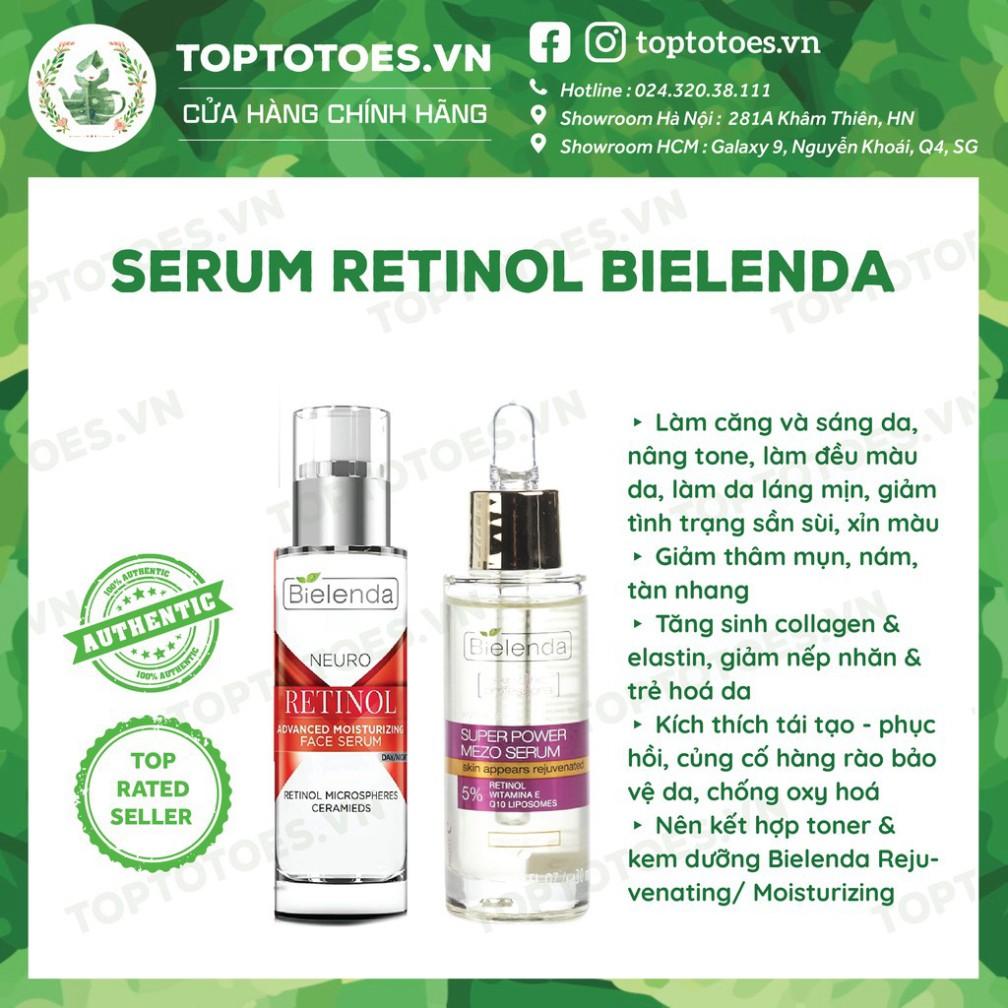 Serum Bielenda Retinol Neuro/ Mezo Skin Clinic trẻ hoá, làm da căng bóng, mờ thâm sẹo