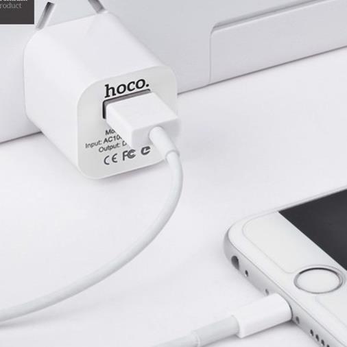 Củ Sạc Hoco UH102 Hàng Chính Hãng Hỗ trợ sạc Cho Iphone IPad Pin Dự Phòng Cáp Sạc Tai nghe Bluetooth