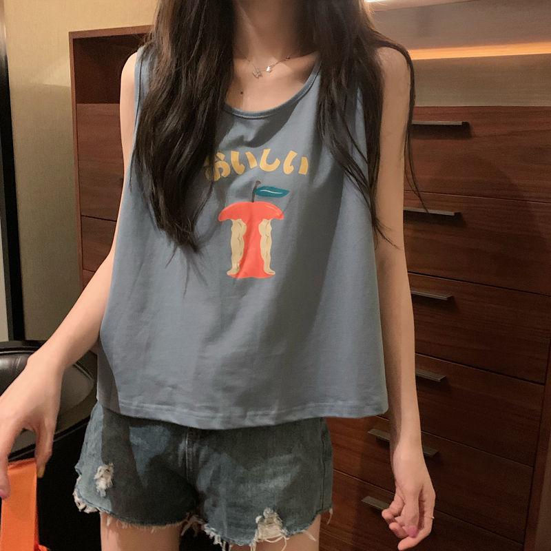 Áo sát nách dáng rộng không tay thời trang mùa hè kiểu dáng thể thao cho học sinh