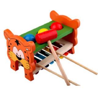 Đồ chơi đập bóng kết hợp đàn – Đồ chơi gỗ an toàn cho bé