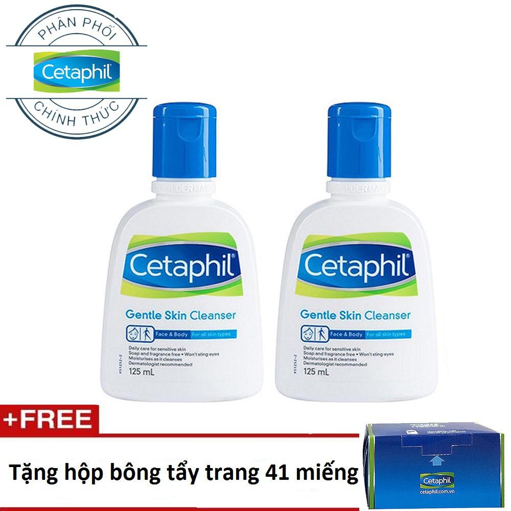 Bộ 2 sữa rửa mặt Cetaphil Gentle Skin Cleanser 125ml + tặng 1 hộp bông tẩy trang - 3565327 , 1202695176 , 322_1202695176 , 220000 , Bo-2-sua-rua-mat-Cetaphil-Gentle-Skin-Cleanser-125ml-tang-1-hop-bong-tay-trang-322_1202695176 , shopee.vn , Bộ 2 sữa rửa mặt Cetaphil Gentle Skin Cleanser 125ml + tặng 1 hộp bông tẩy trang