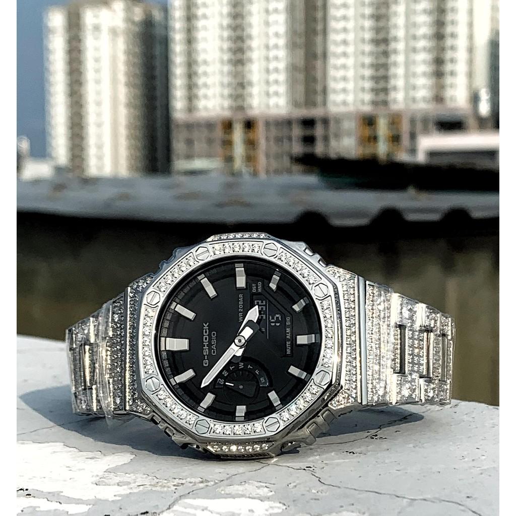 Đồng hồ nam G-Shock Casio Anh Khuê GA-2100 kết hợp bộ vỏ custom AP