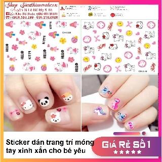Sticker dán trang trí móng tay dễ thương cho bé yêu thumbnail