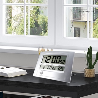 Đồng hồ điện tử mini màn hình lcd 2 trong 1 tiện dụng cho gia đình - hình 2
