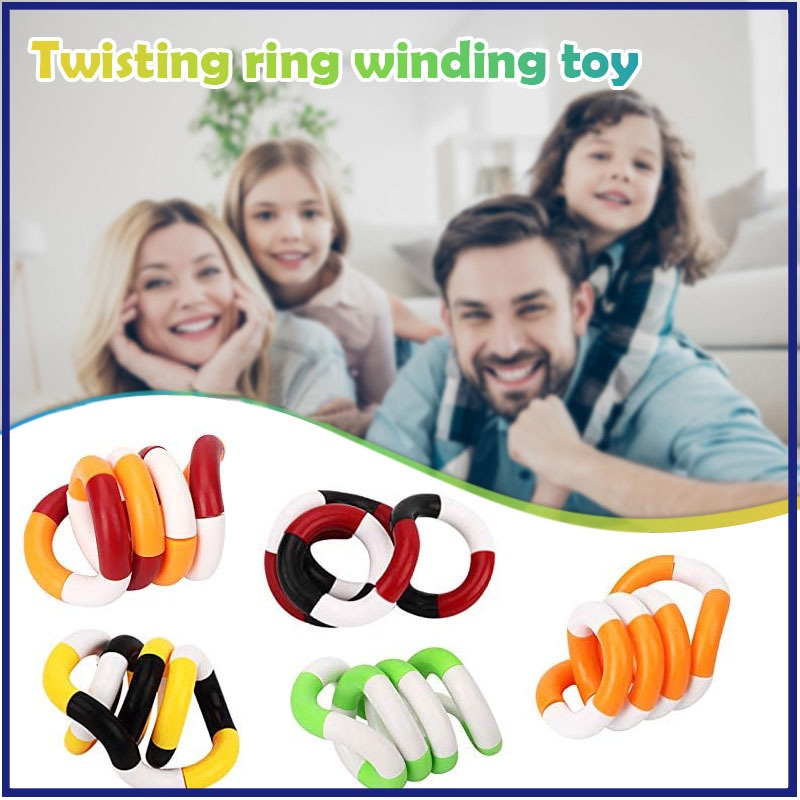Twisted Circle Winding Toys Variety Twisted Rope Adult Decompression Vent Toys Creative Stress Relief Tools