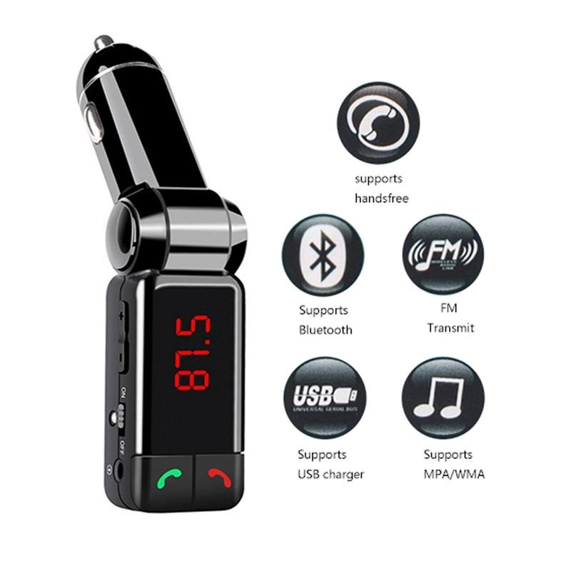 New Wireless Bluetooth Car Kit FM Transmitter Handsfree Car Charger MP3 Player USB audio GD