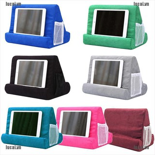 <lucai+cod>Multi-Angle Pillow Tablet Read Holder Stand Foam Lap Rest Cushion for Phone iPad