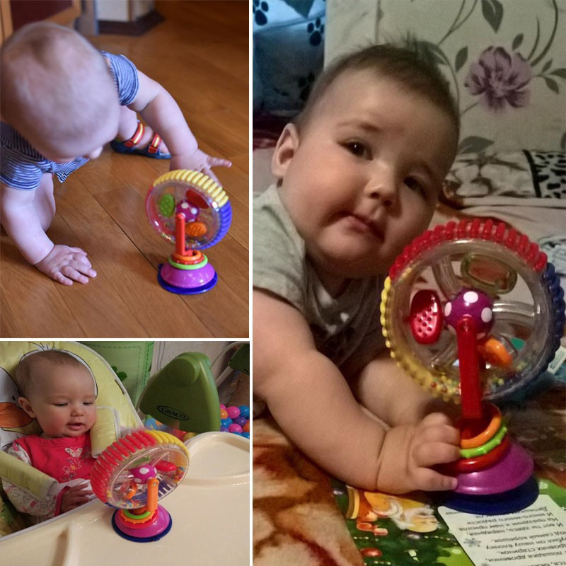 Baby Toy Three-color Model Rotating Windmill Educational Toys for Babies