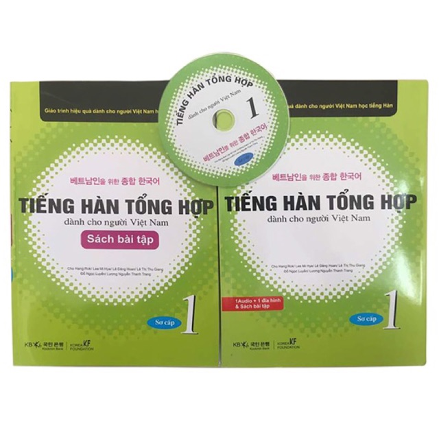 Sách - Trọn Bộ Giáo Trình Tiếng Hàn Tổng Hợp dành cho người Việt Sơ cấp 1 SGK + BT & CD