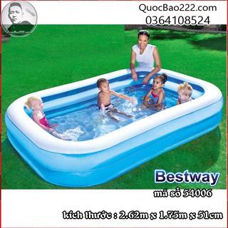Bể Bơi Phao 2.62m x 1.75m x 51cm trên 6 tuổi – Bestway 54006