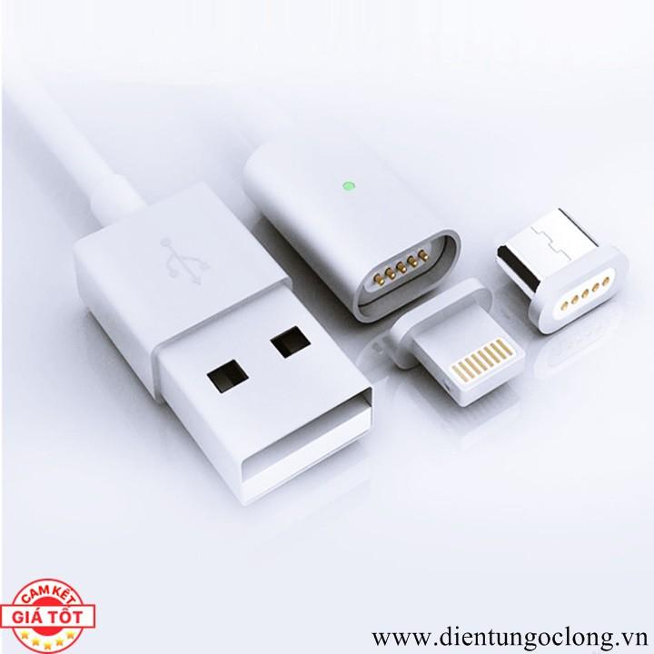 Cáp Sạc Nam Châm 2 Đầu Lightning Và Micro USB
